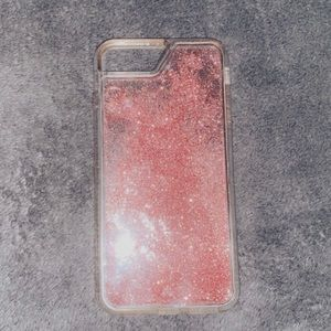 floating glitter iphone 8+ case